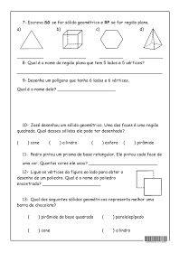 Solidos Geometricos Atividades De Matematica Atividades De