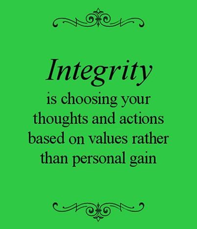 Integrity Is The Quality Of Being Honest And Having Strong Moral