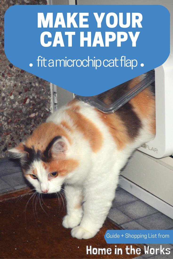 Fitting a Microchip Cat Flap in a UPVC Door Cat flap