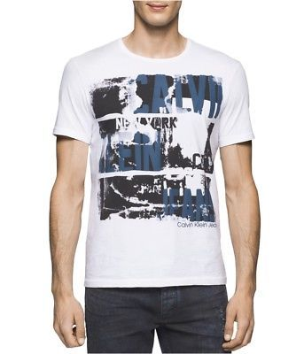 Calvin Klein Mens New York Logo Graphic T-Shirt  d104f71be8e