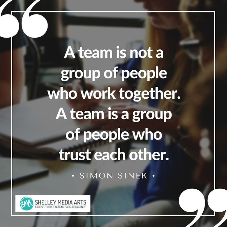"""""""A team is not a group of people who work together. A team"""