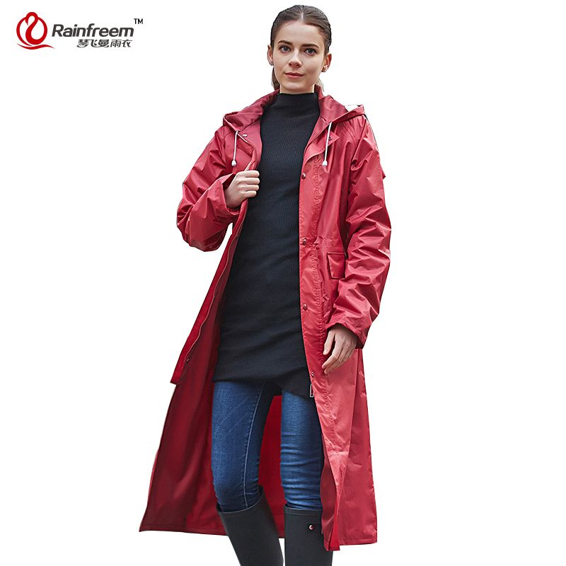 Rainfreem Impermeable Raincoat Women/Men Waterproof Trench Coat ...