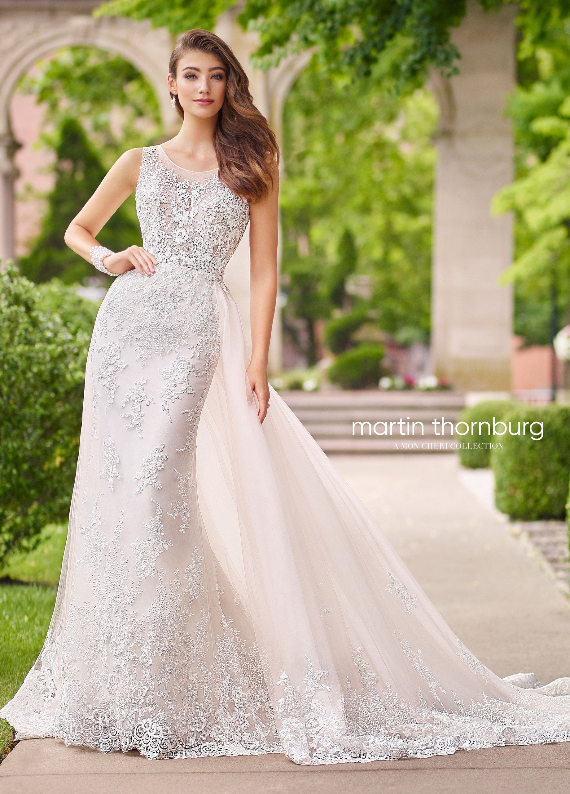 Sequined wedding dress  Piece Allover Lace u Sequin Wedding Dress  Nera  Wedding
