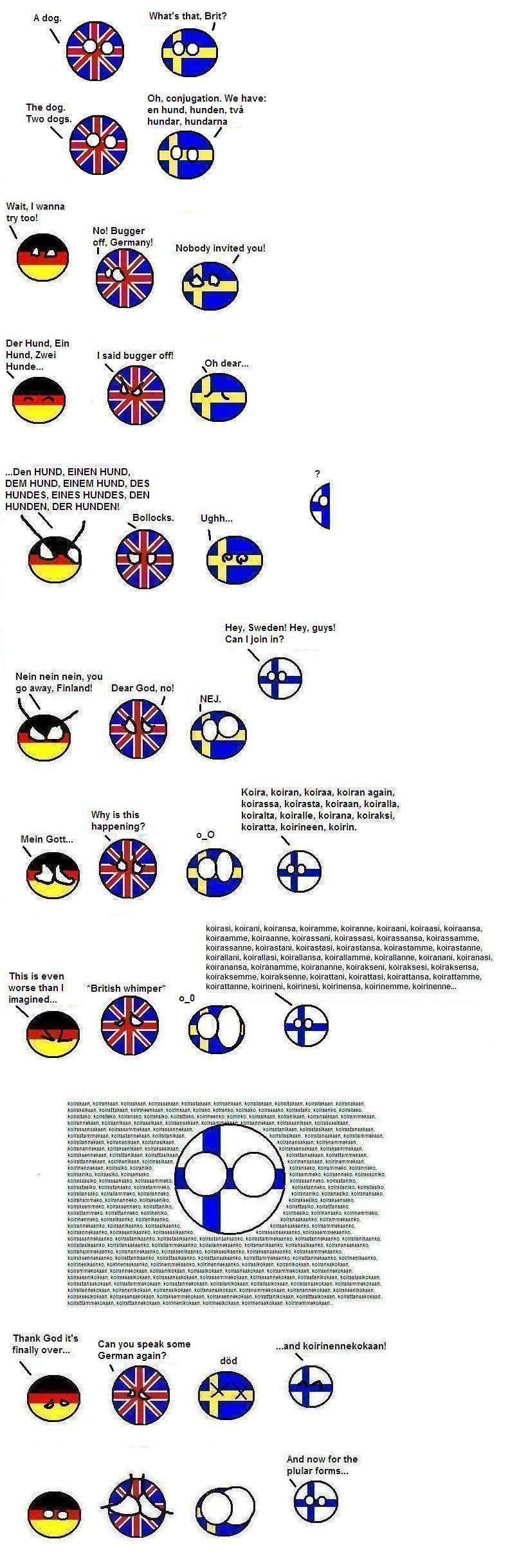 Finnish, it's the dog's ...