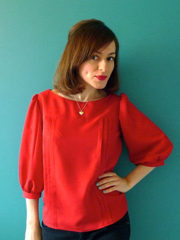Mathilde Blouse Sewing Pattern by Tilly and The Buttons
