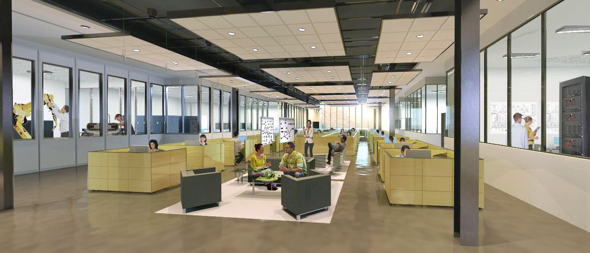 open office area Open Office Collaboration Area Concept 230
