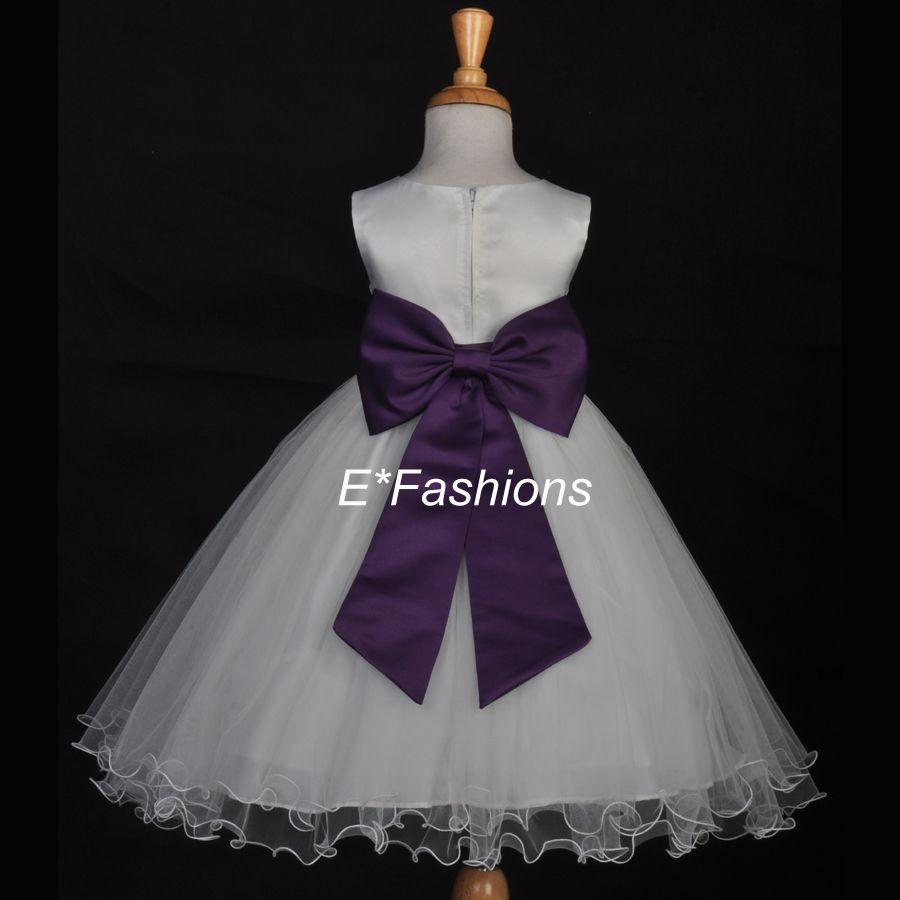 9699cf50153 Ivory And Cadbury Purple Flower Girl Dresses - Gomes Weine AG
