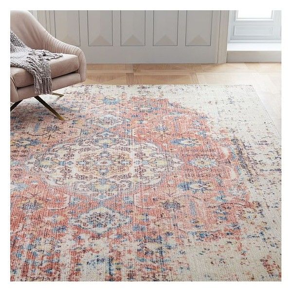 West Elm Rug Shedding: West Elm Rani Rug, Multi, 5'x8' ($499) Liked On Polyvore