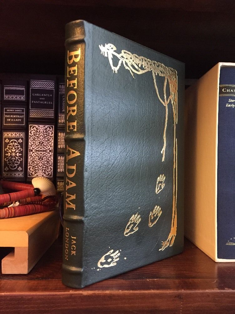 Easton Press BEFORE ADAM Jack London Masterpieces of Science Fiction Illustrated