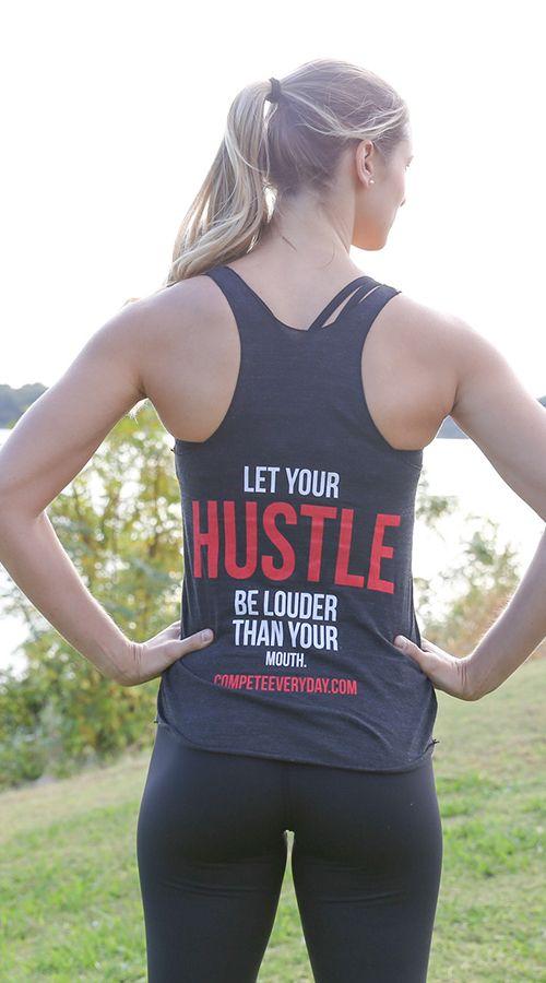 Hustle Tank Workout Shirts Workout Attire Fitness Fashion
