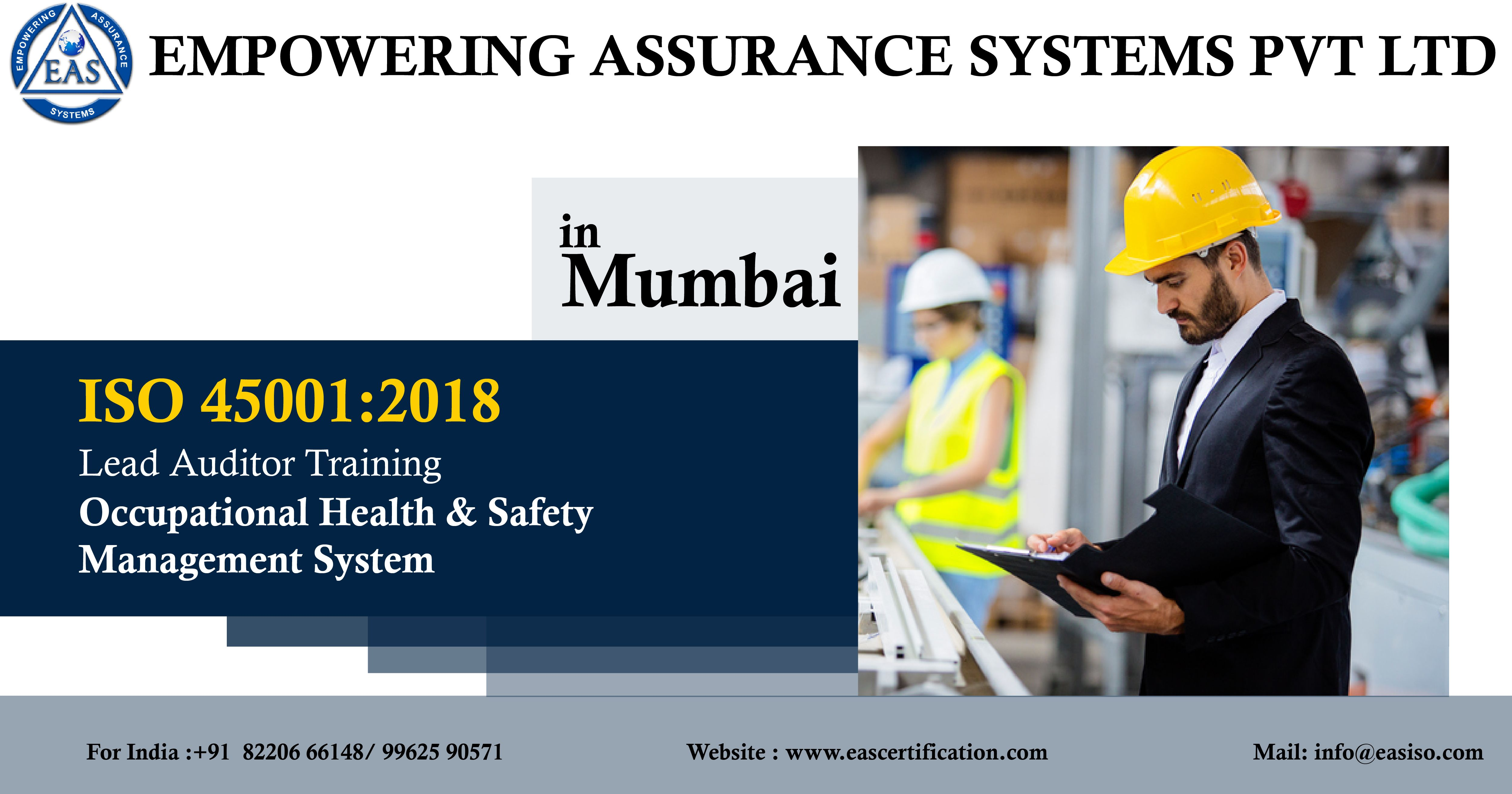 ISO 450012018 Lead Auditor Training OHSMS Lead Auditor