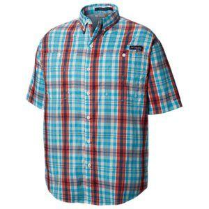 New Mens Columbia PFG Super Tamiami Fishing Short Sleeve Shirt