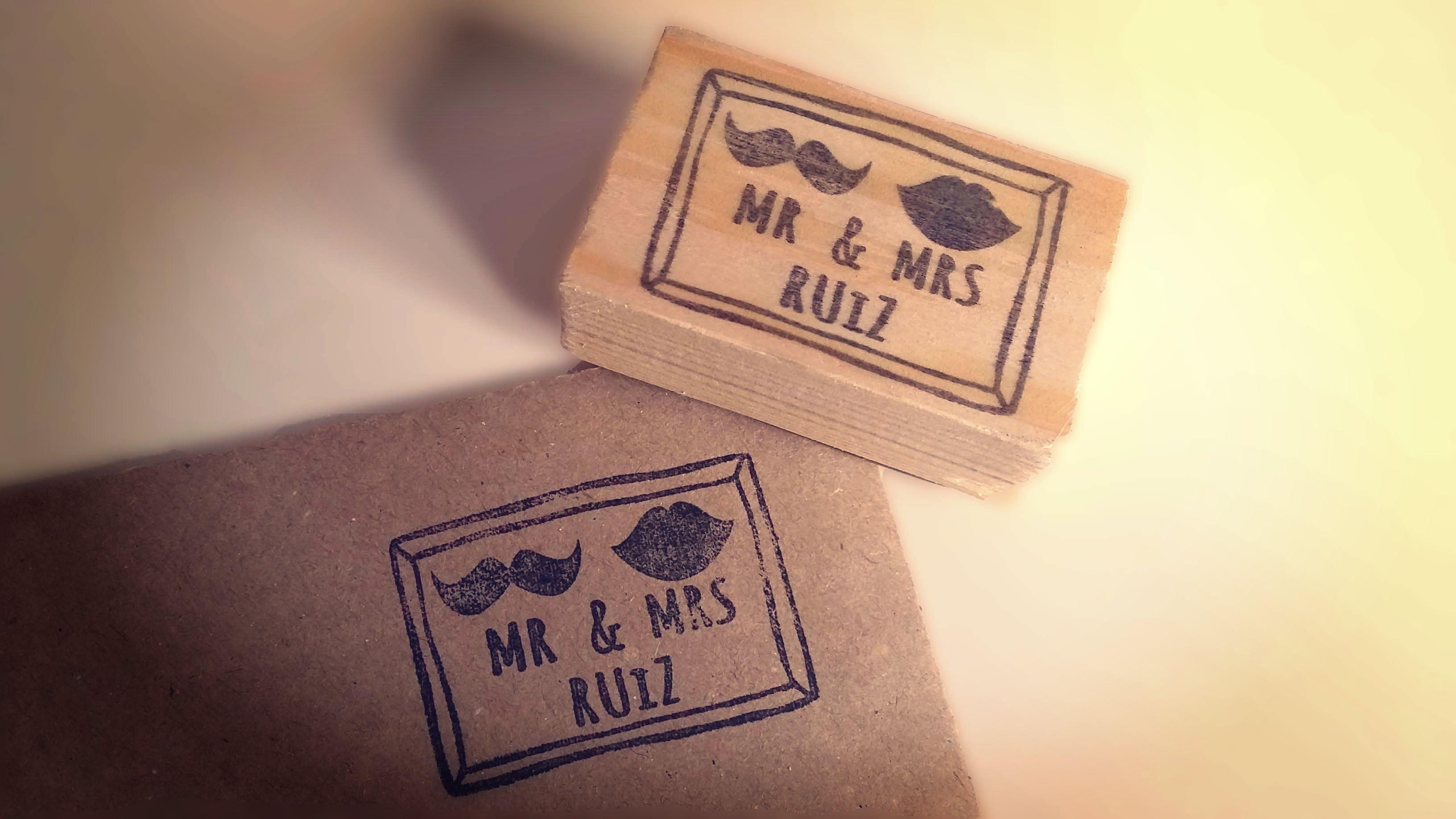 sello  Mr & Mrs boda