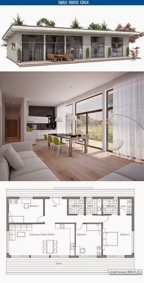 Planta con tres habitaciones y cocina integrada. | Decoracion ... on master designs, master builders, master blueprint, master painting, master furniture,