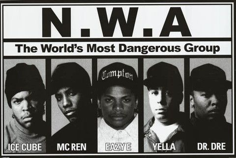 Ice Cube - Dr Dre NWA v3 Straight Outta Compton Movie Poster Eazy-E 24x36