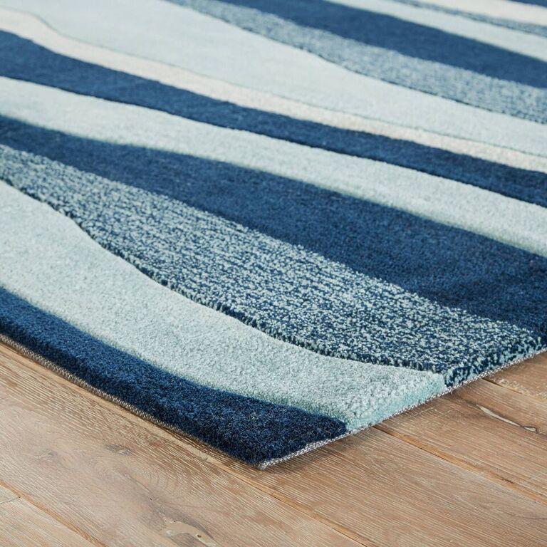 Coastal Blue Waves Area Rug Coastal Decor Coastal Bedrooms