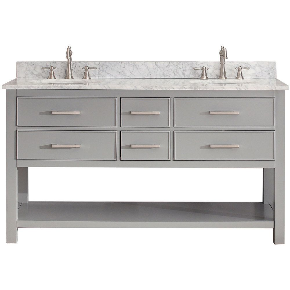 Avanity Brooks Chilled Grey 60 Inch Vanity Combo By