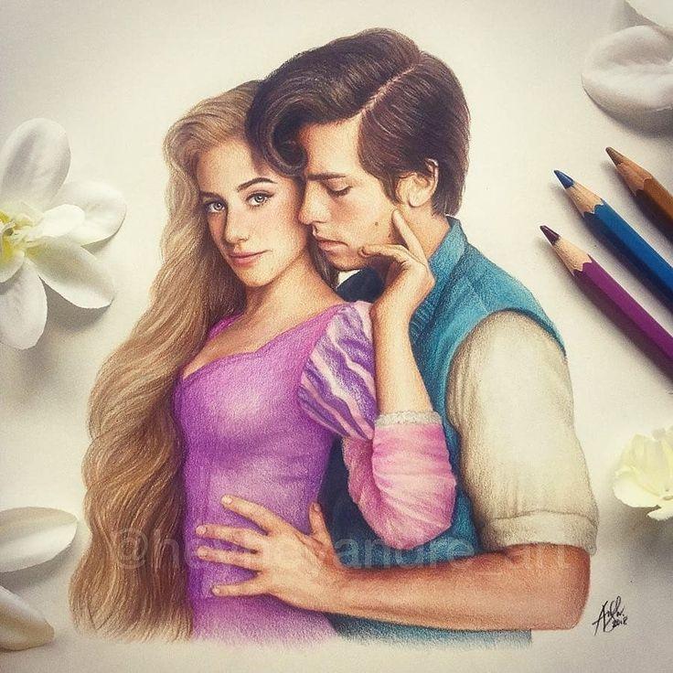 Erstellt von :-  ...Veröffentlicht von :-  ...Rapunzel und Flynn Rider reimangi... #drawingsideasCouples
