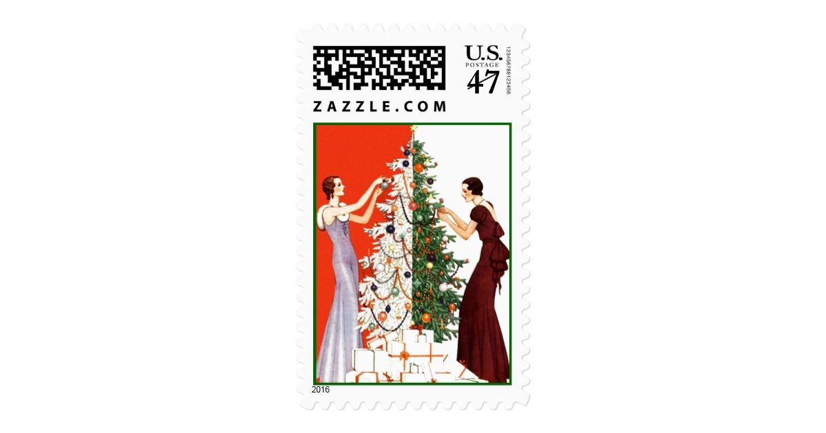 CHRISTMAS STAMPS HOLIDAY TREE DECORATING ORNAMENTS | Custom Christmas Postage Stamps | #ChristmasStamps