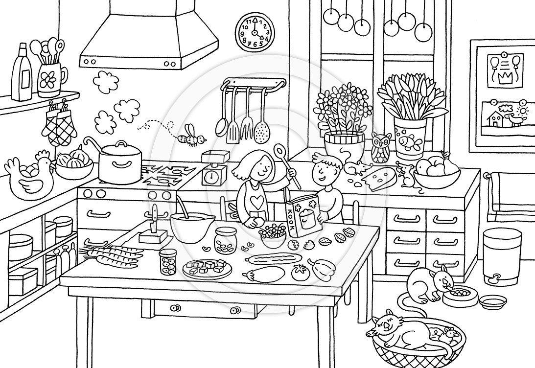 Afbeeldingsresultaat Voor Keuken Kleurplaat Kleurplaten Thema Sinterklaas