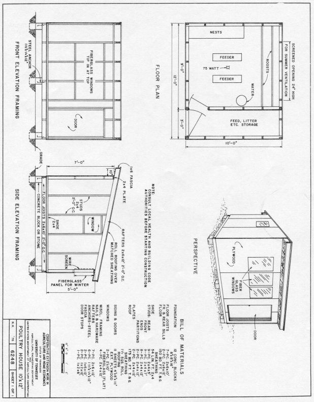 poultry house 10x12 plan | chicken coop designs | pinterest
