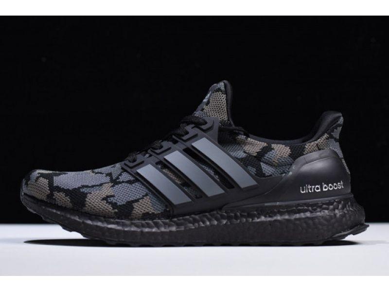 Bape X Adidas Ultra Boost Camo Black Grey For