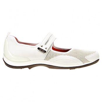 Aetrex Lizzy Single Strap - White Comfort Shoe (Womens)