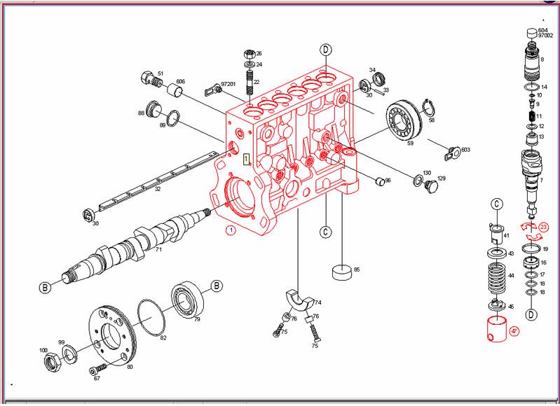 P7100 Injection Pump Diagram