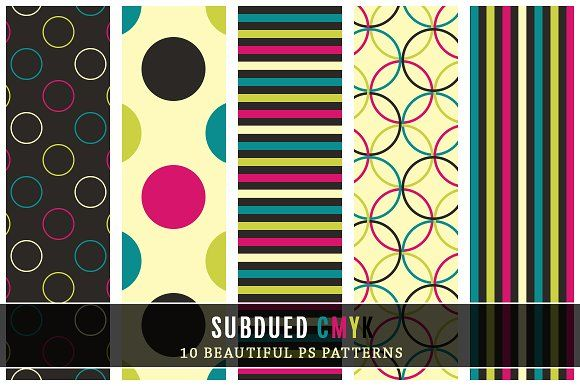 Subdued CMYK by Digital Art Creations on @creativemarket