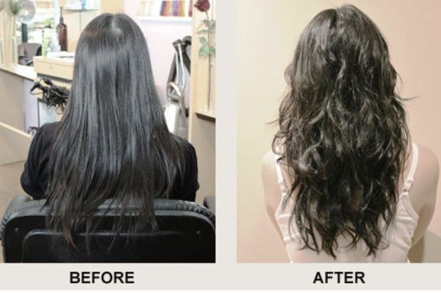 Beach Wave Perm Before And After