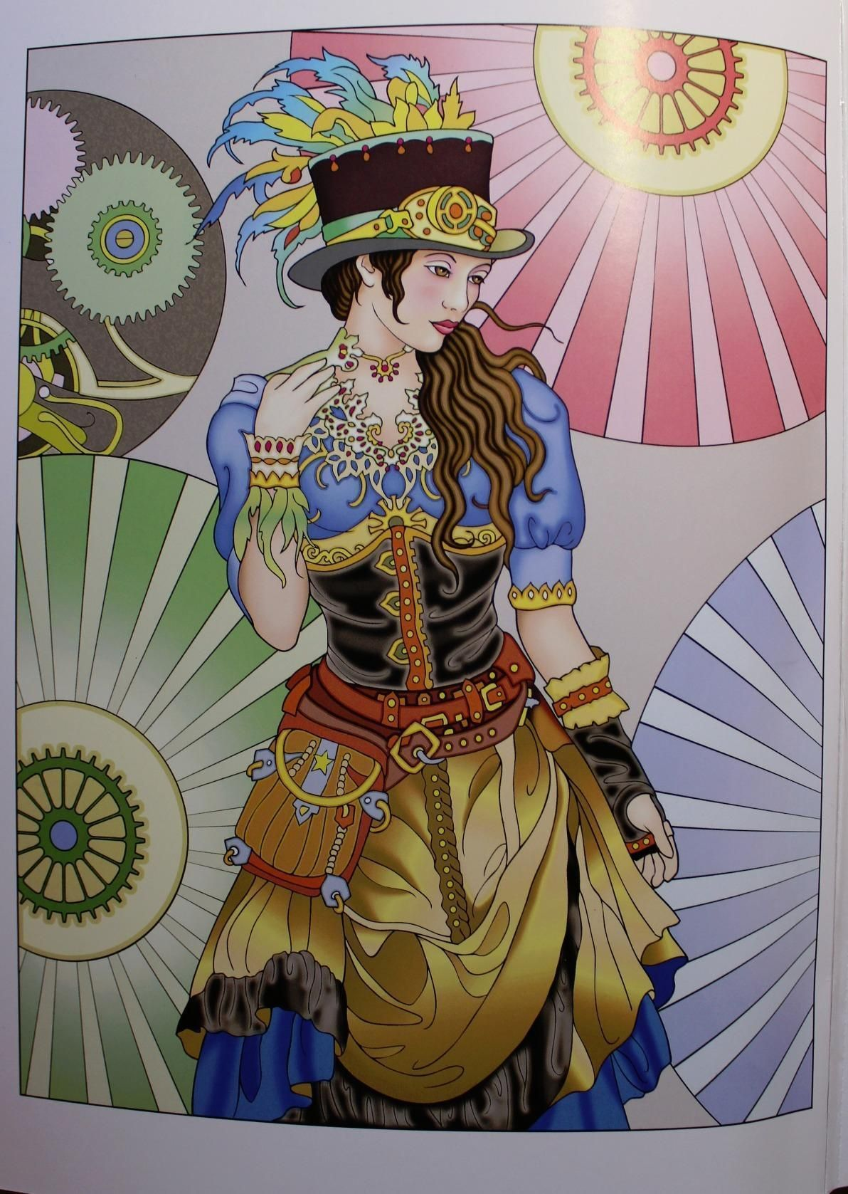 Creative Haven Steampunk Fashions Coloring Book Adult