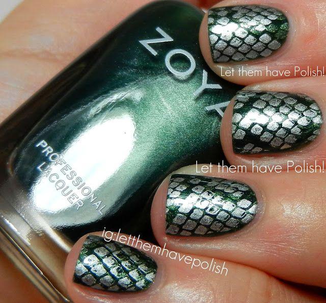 Zoya snake nails.