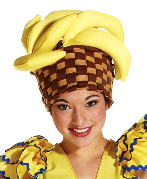Banana Basket Hat Mexican Or Spanish Costume Accessories The