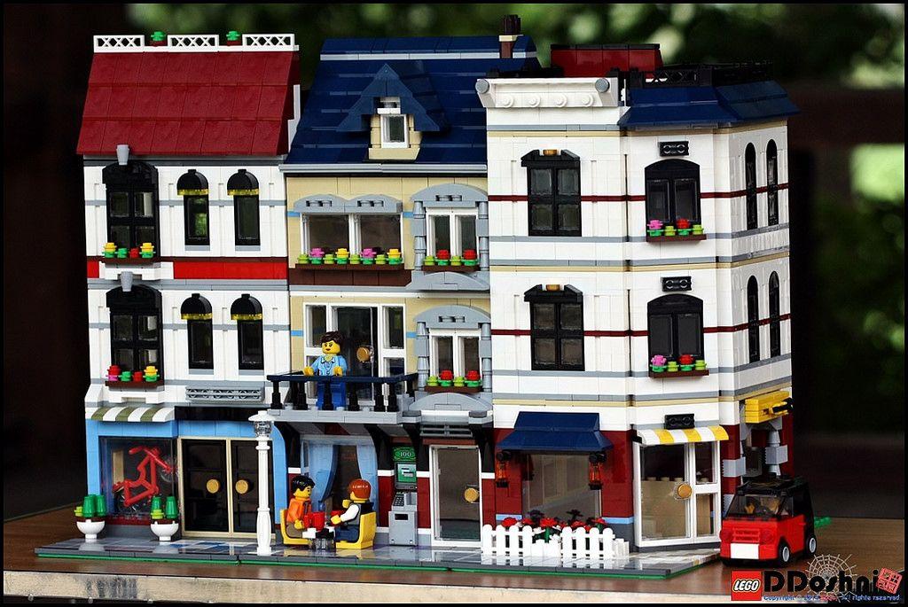 Lego bike shop and cafe moc. Idea for expanding/altering design.