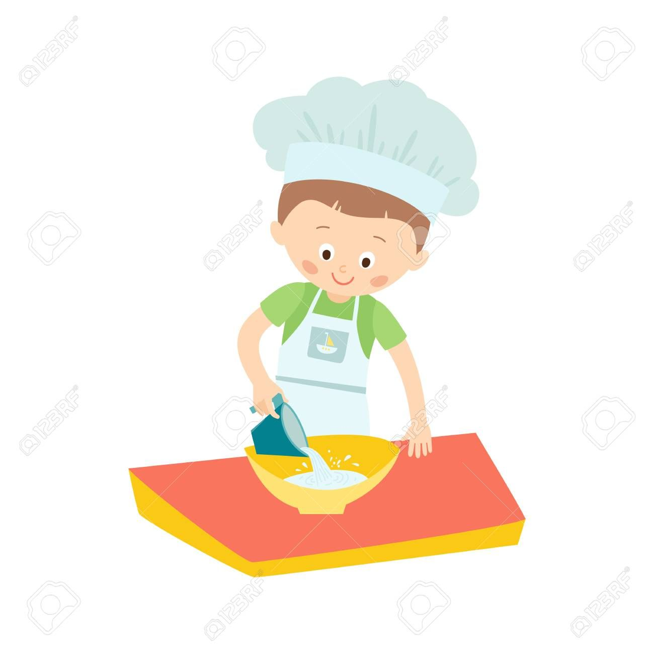 67 Boy Cooking Images Cartoon In