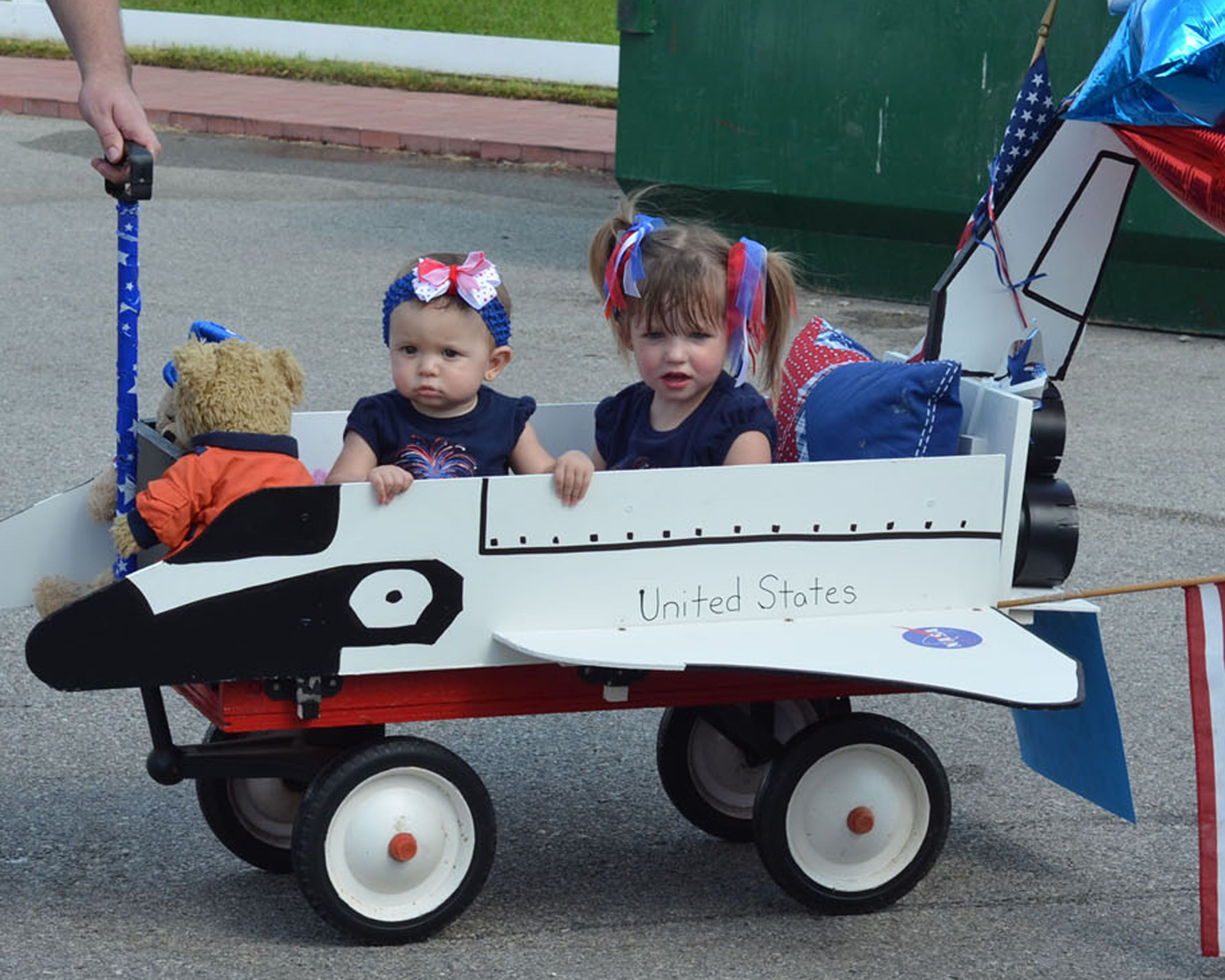 Our Space Shuttle Kids Wagon Parade
