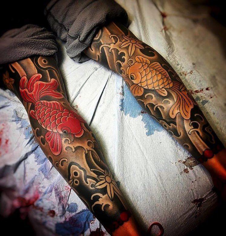 Japanese Leg Sleeve Tattoos By Joshcartertattoo Japaneseink Japanesetattoo Irezumi Tebori Traditional Japanese Tattoos Japanese Tattoo Leg Sleeve Tattoo