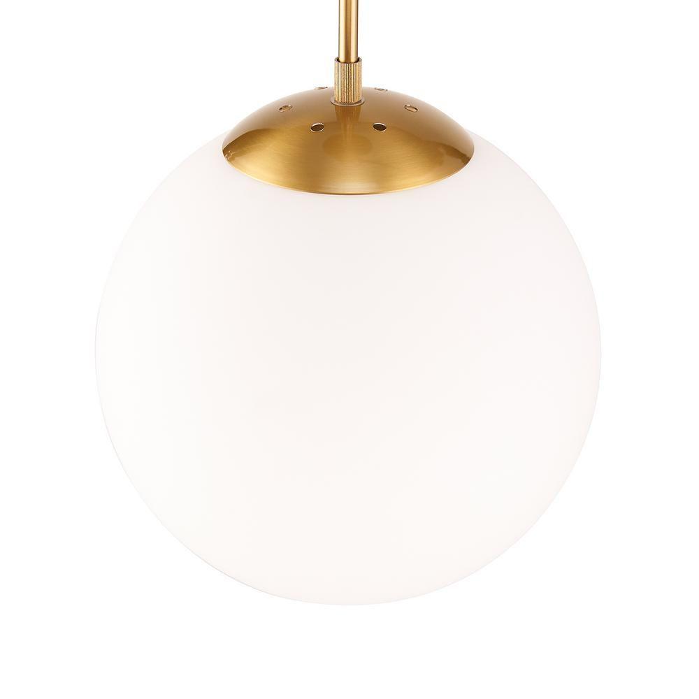 Southern Enterprises Katia 1 Light Antique Bronze And White Globe Pendant Lamp Hd180076 The Home Depot Blown Glass Pendant Light Pendant Lamp Glass Ceiling Lights
