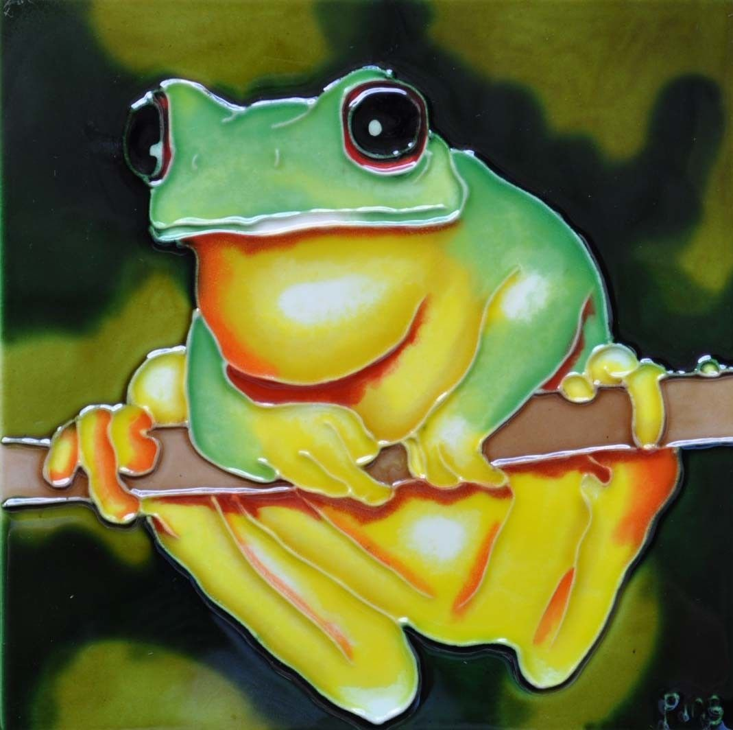 Yellow Belly Frog Tile Wall Decor | Products | Pinterest | Frogs ...