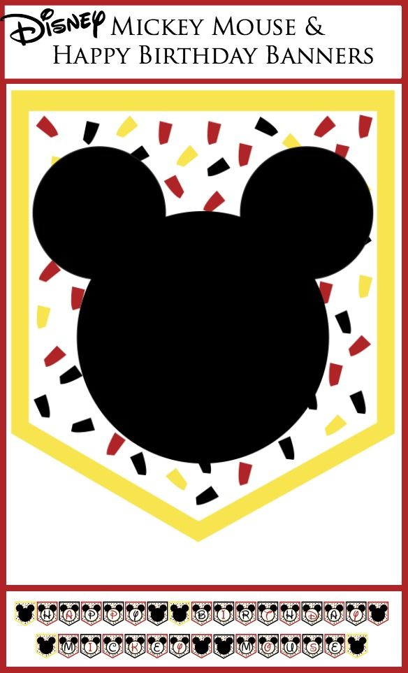 Disney Party Banners  Disney, Birthdays and Happy