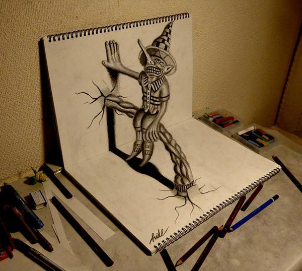 Amazing 3d pencil drawing 2 amazing collection of 3d pencil drawings