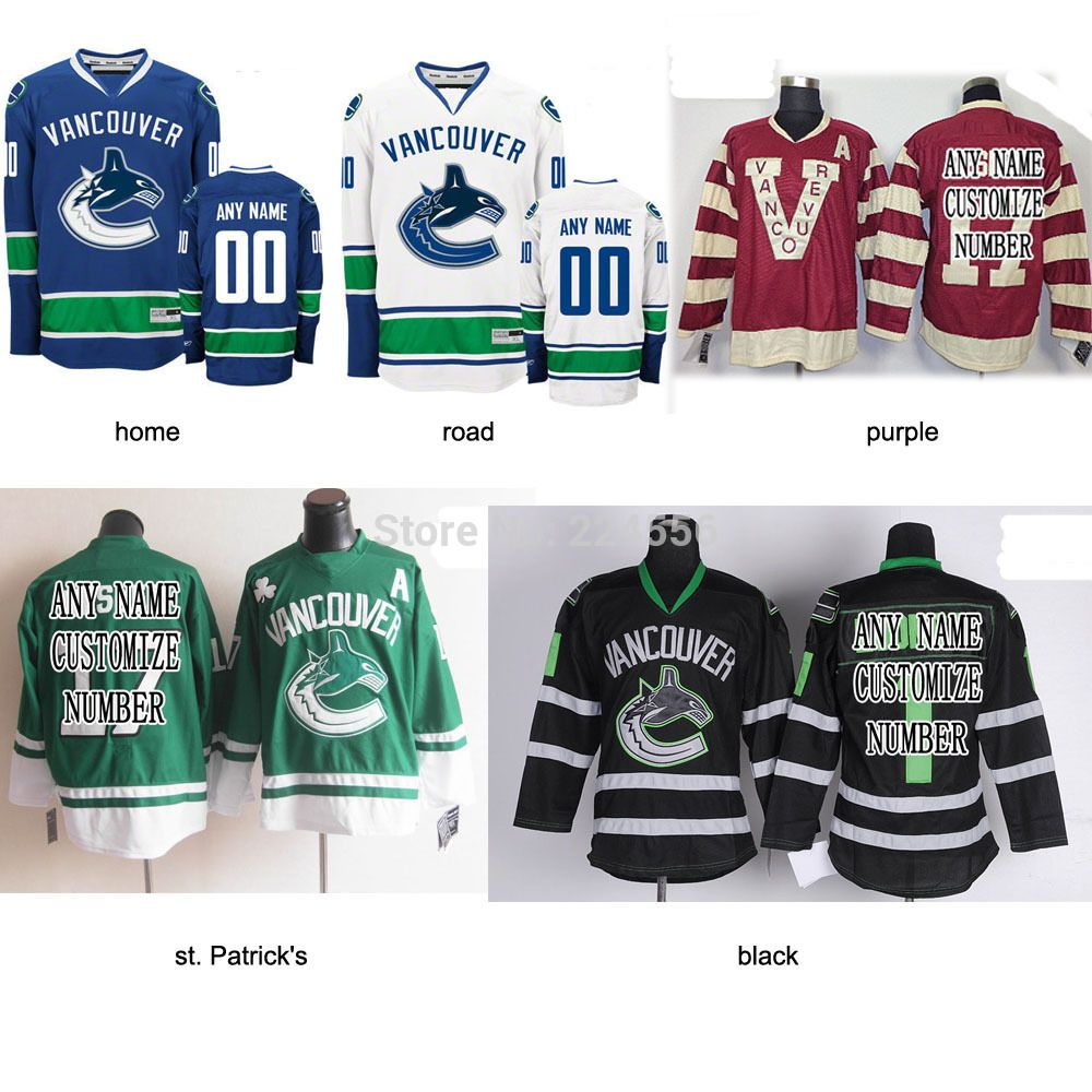c6cf59cf24d Find More Sports Jerseys Information about blank or Customize Vancouver  Canucks Jerseys Home Away Alternate Personalize nhl jersey Sewn On ANY NO.