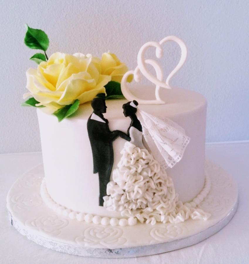 Wedding Silhouettes Chocolate Wedding Cake Silhouette Cake Anniversary Cake Designs