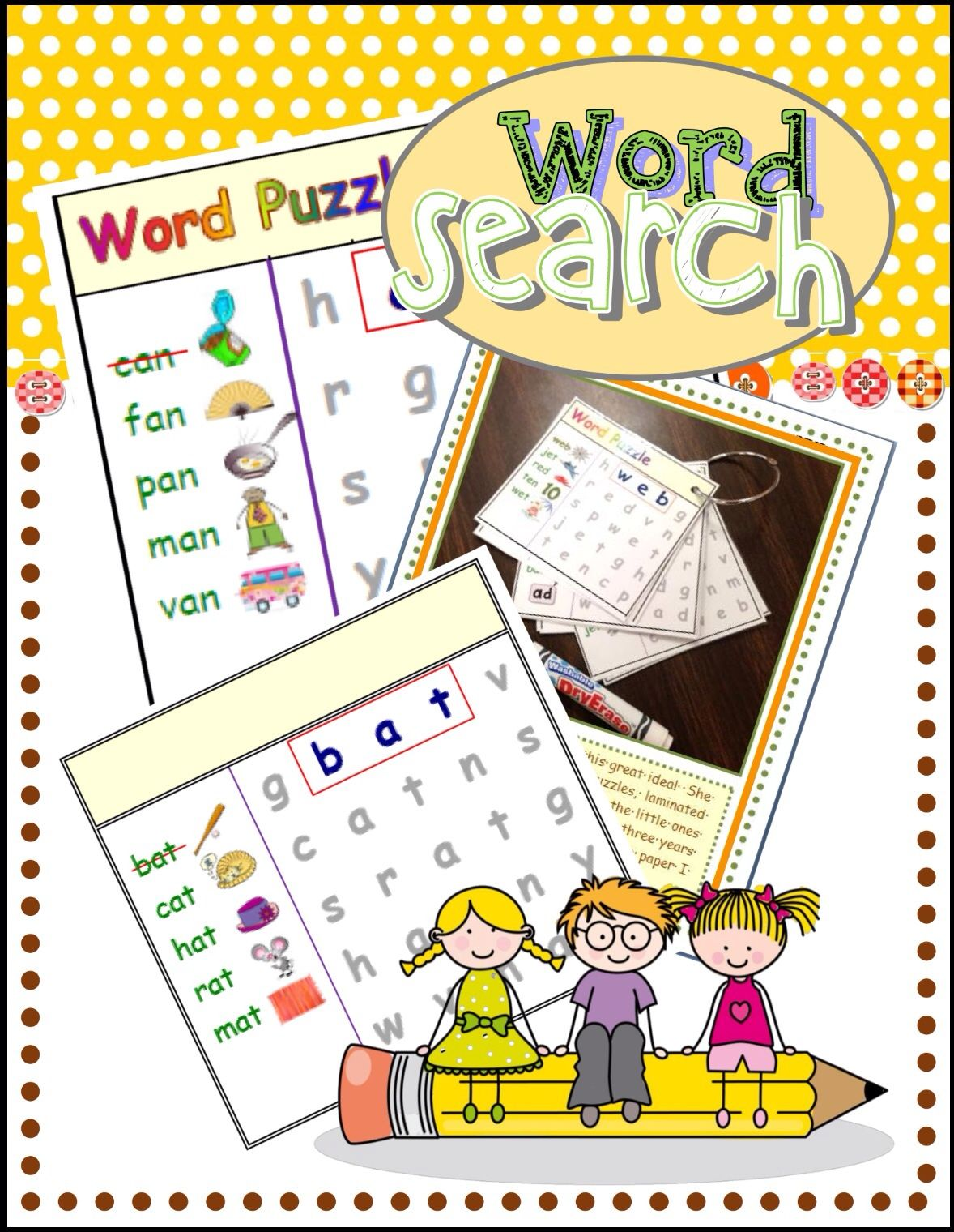 Free Cvc Word Search Short A Rf K 2d