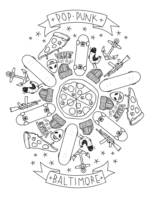 Image Result For Pop Punk Coloring Pages Coloring Pages Coloring Sheets Pastel Goth