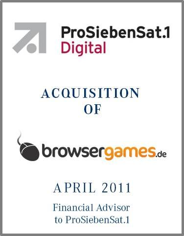 ProSiebenSat.1 is one of Europe's largest broadcasting networks with TV stations in 12 countries and a market leading position in Germany. Parklane Capital analyzed the business unit with recommendations for further expansion.  Furthermore Parklane provided buy-side consultancy of ProSiebenSat.1 by drawing up a detailed market overview and by identifying  potential targets.