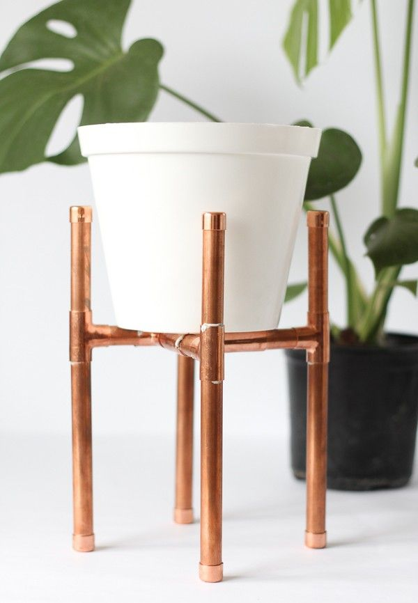 sweet house plant holders. Raised Copper Pot Plant Stand DIY  Tutorial Pure Sweet Joy Raising Pipes and