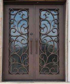 Grand Doors Wood Doors Entry Doors Custom Wood Doors Wrought - Wrought iron front door