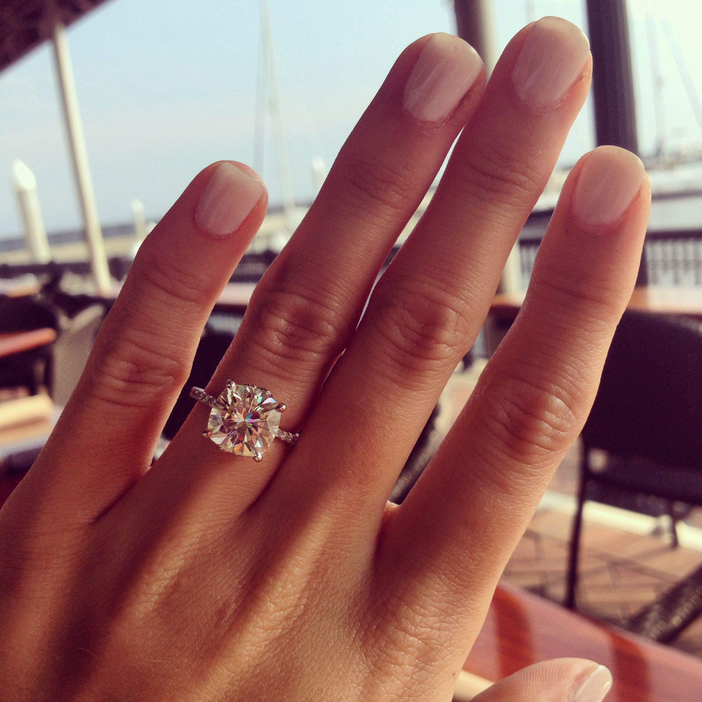 Find This Pin And More On Engagement Rings Love The Cushion Cut And Baby  Diamonds