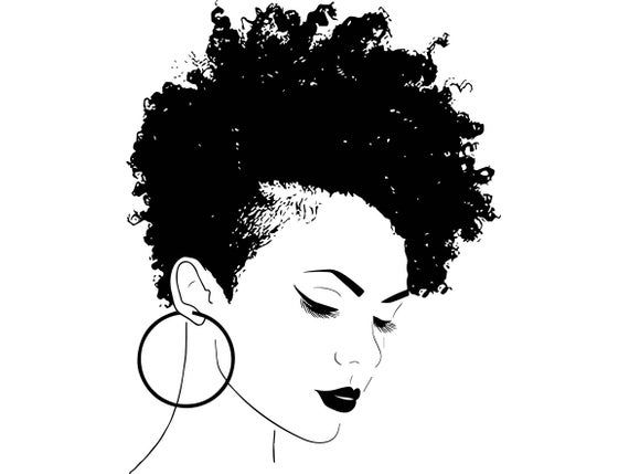 Afro Woman svg Princess Queen Afro Hair Beautiful African American Female Lady SVG .EPS .PNG Vector